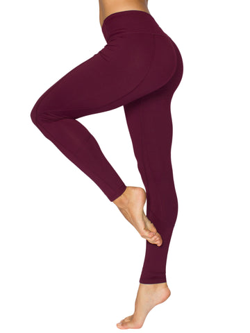 CONTOUR FULL LENGTH SPORT TIGHTS - BURGUNDY