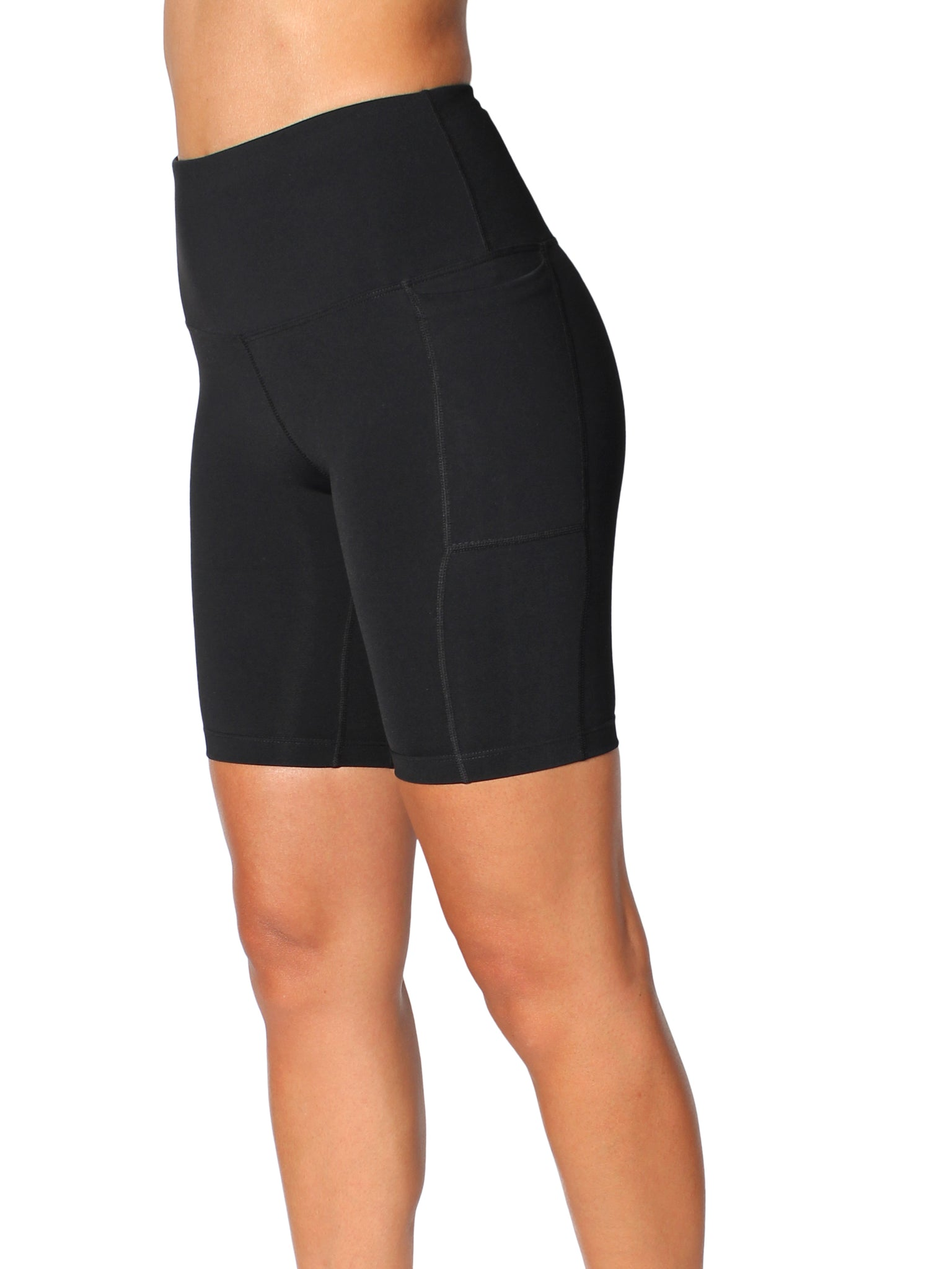 SUPPLEX BIKE SHORTS WITH SUPPORTIVE WAISTBAND