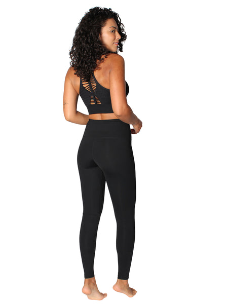 F/L SUPPLEX TIGHTS WITH SUPPORTIVE WAISTBAND