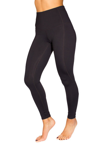 HIGH-RISE CRISS CROSS DETAIL FITNESS TIGHT - BLACK