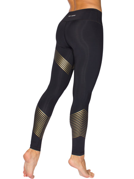 GOLD LEAGUE LONG TIGHTS- BLACK/GOLD