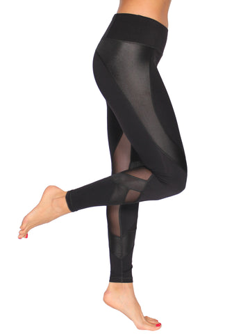 GLAM F/L SPORT TIGHTS - BLACK
