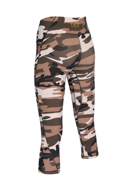 ULTIMATE SUPPORT 3/4 CAMO TIGHTS - SAHARA