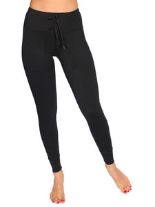 STASH DRAWSTRING SPORT TIGHTS  - BLACK