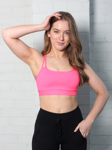 ZEN SUPPORT LOCALLY MADE SPORTS BRA - NEON PINK
