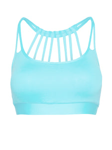 ZEN SUPPORT LOCALLY MADE SPORTS BRA - AQUA