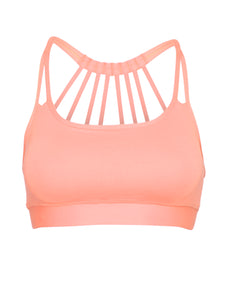 ZEN SUPPORT LOCALLY MADE SPORTS BRA - NEON CORAL