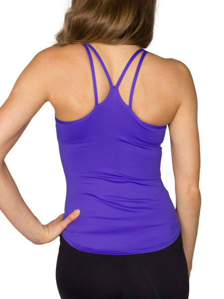 MULTI STRAP SUPPORT SINGLET - ELECTRIC