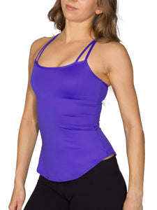 BUILT-IN BUST SUPPORT DOUBLE STRAP SPORT TANK - ELECTRIC