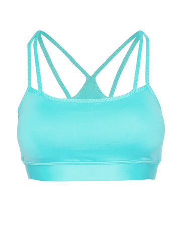 DOUBLE STRAP SUPPORT LOCALLY MADE SPORTS BRA - AQUA