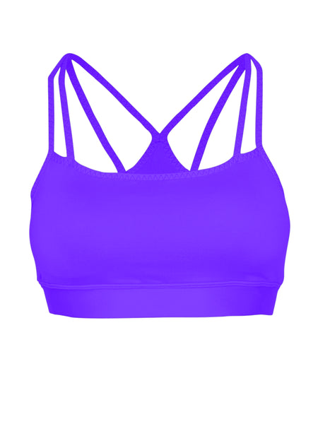 DOUBLE STRAP SUPPORT LOCALLY MADE SPORTS BRA - ELECTRIC