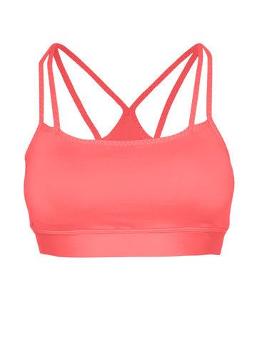 DOUBLE STRAP SUPPORT LOCALLY MADE SPORTS BRA - NEON PINK