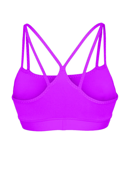 DOUBLE STRAP SUPPORT LOCALLY MADE SPORTS BRA - RASPBERRY