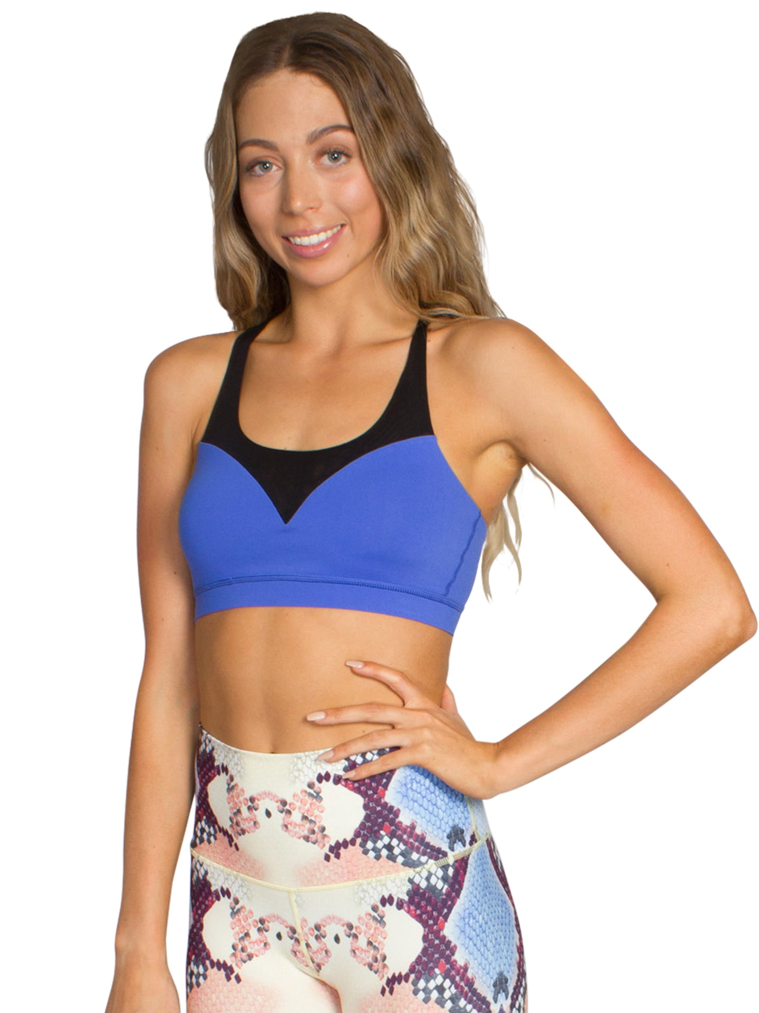 V-MESH FOCUS JOG BRA - ROYAL