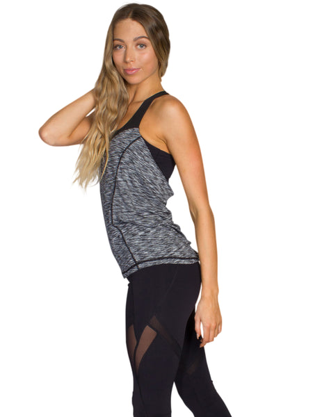 RELAXED FIT 2 IN 1 SPORT SINGLET - BLACK