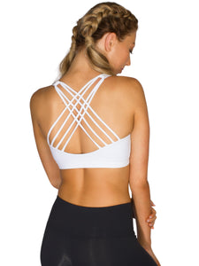 CRISS CROSS SUPPORT BRA- WHITE