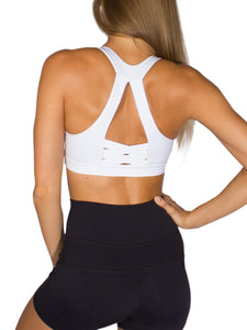PURE FIT SPORTS BRA- WHITE