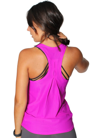 BREEZE MESH SPORT SINGLET - BERRY