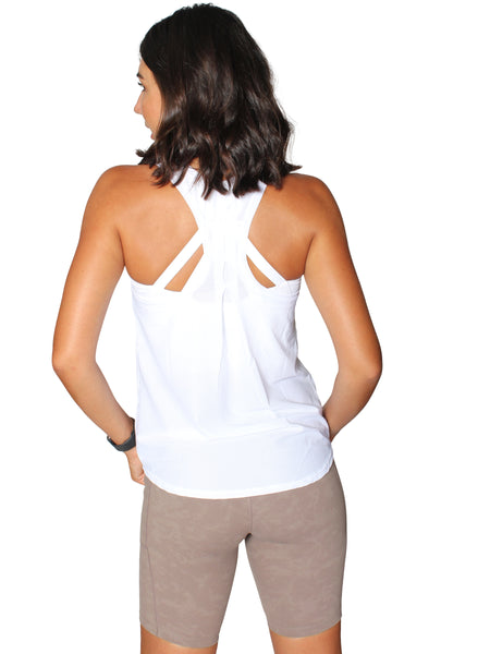 BREEZE MESH SPORT SINGLET - WHITE