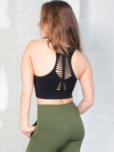 ELEVATE SEAMLESS COMFORT CROP - BLACK