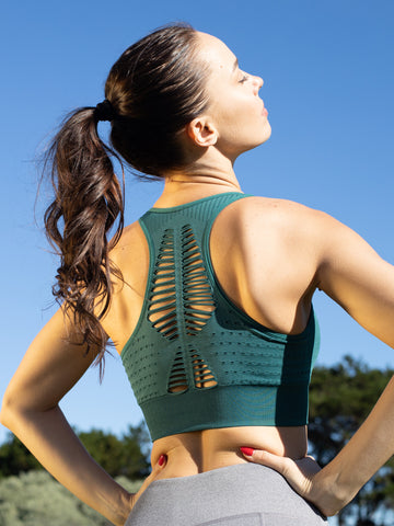 ELEVATE SEAMLESS COMFORT CROP - FOREST