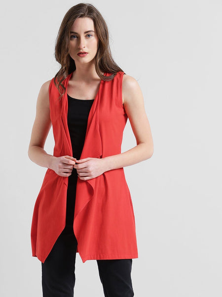Shrugs - Texco Women Waterfall Sleeve Less Stylish Shrug