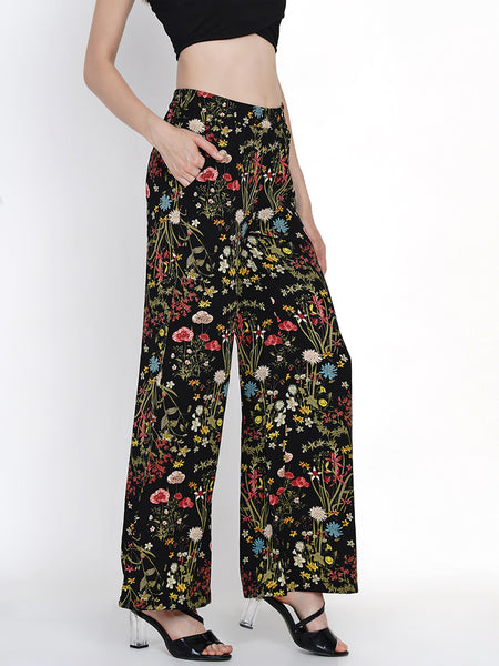Texco Printed Culottes With Elasticated Waist For Women