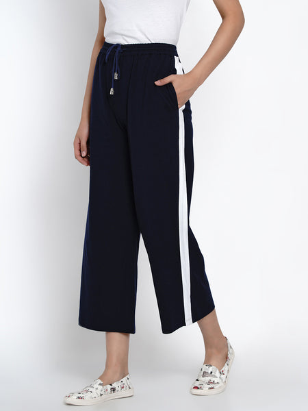 Texco Women Side Taping Black Culottes