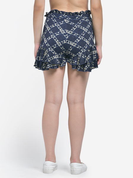 Texco Checked  Party Wear Shorts
