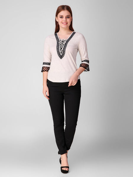 Texco Melange Women Party Top - Fashiano