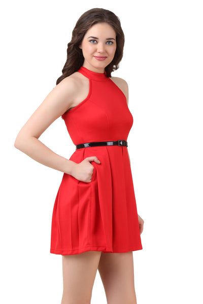 Texco Fit Flare Skater Dress - Fashiano