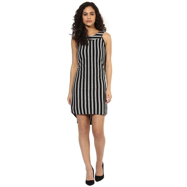 Texco Women Stripe High Low Dress - Fashiano