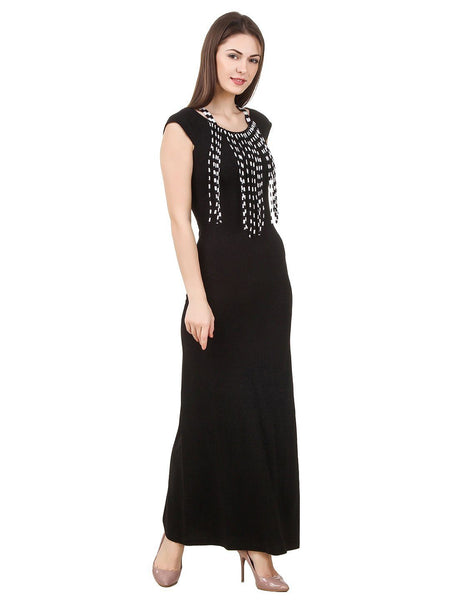 Dresses - Texco Women's Fringes Detailed Summer Maxi Dress
