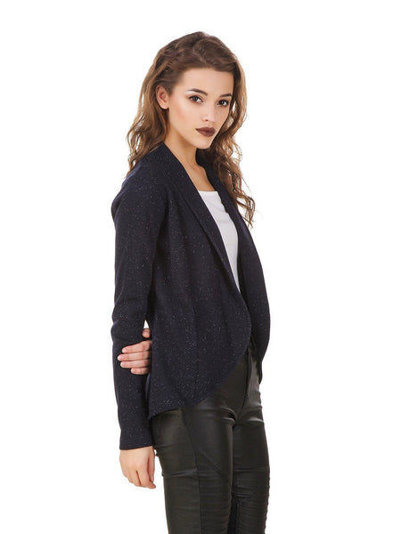 Texco Lurex Party Winter Open Front Jacket - Fashiano