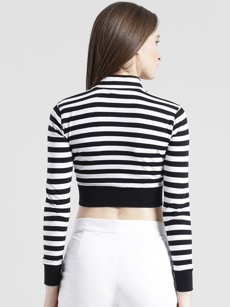 Texco Women Striped Crop Top - Fashiano