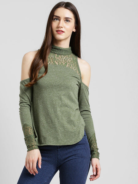 Texco Women Solid Cold shoulder Top - Fashiano