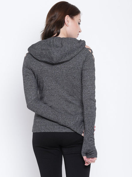 Texco Hooded Stylish Full Sleeves Women Sweat Shirt - Fashiano