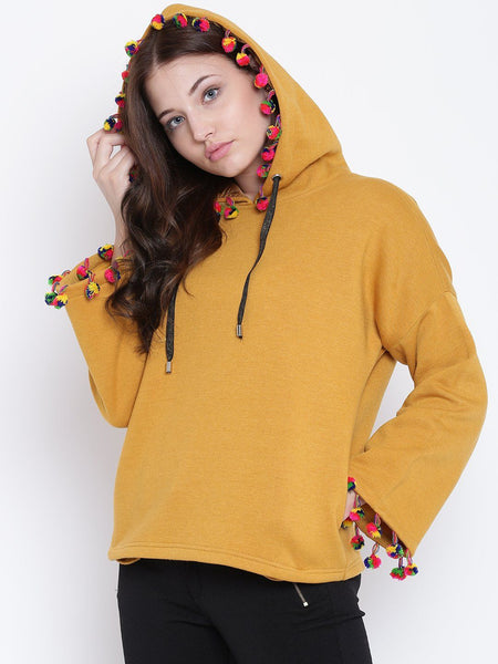 Texco Hooded Full Sleeves Women Sweatshirt - Fashiano