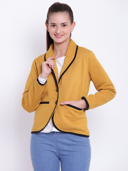 Texco Shawl Collar Winter Blazer For Women - Fashiano