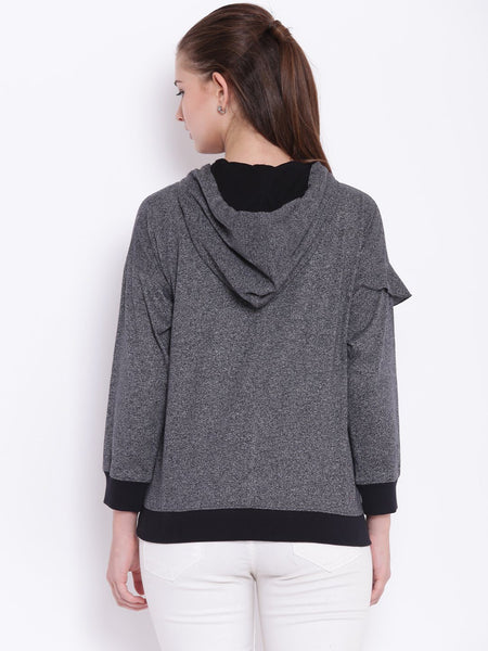 Tops - Texco Hooded Ruffled Stylish Top For Women