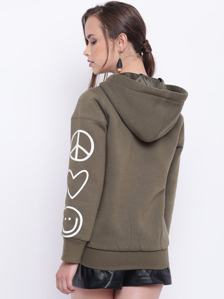 Texco Printed Hooded Jacket For Women - Fashiano