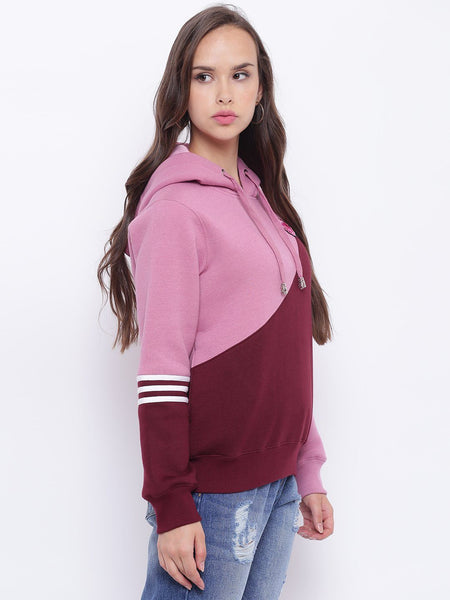 Texco Embroidered Hooded Sweatshirt For Women - Fashiano