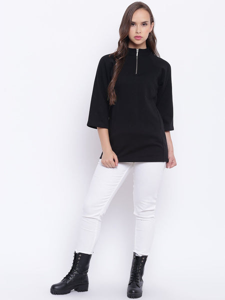 Texco Mock Neck Sweatshirt For Women - Fashiano