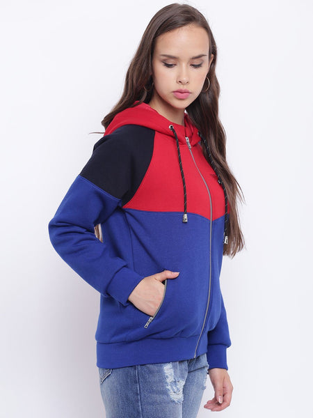 Texco Color Block Bomber Jacket For Women - Fashiano