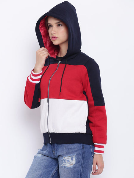 Texco Color Block Jacket For Women - Fashiano