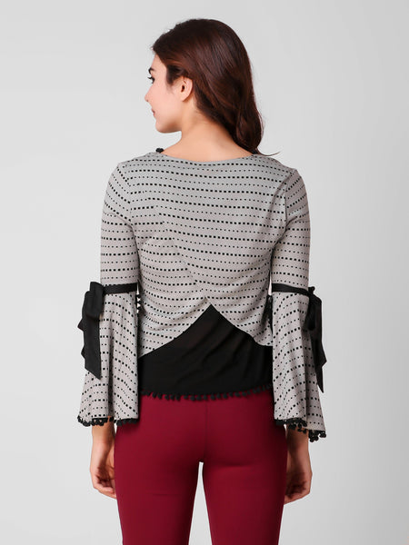 Texco Printed Back Styled Women Top - Fashiano