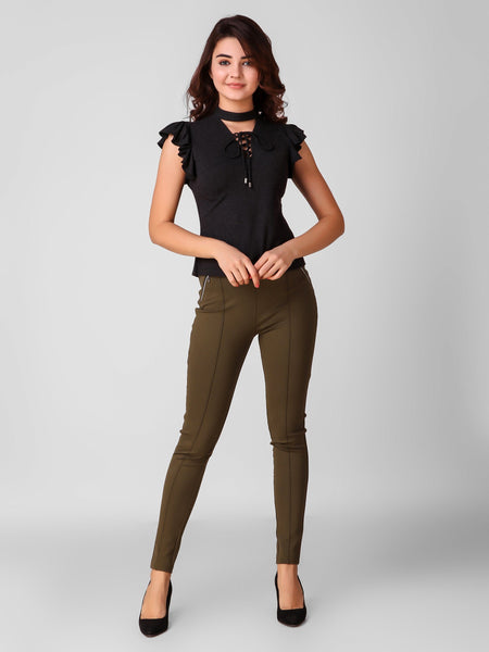 Texco Tie-Up Detailed Women Top - Fashiano
