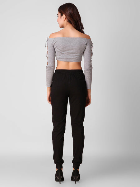 Texco Crop Top And Joggers Women Co-Ords Set - Fashiano
