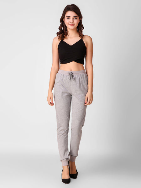 Texco Stylish Crop Top And Joggers Women Co-Ords Set - Fashiano