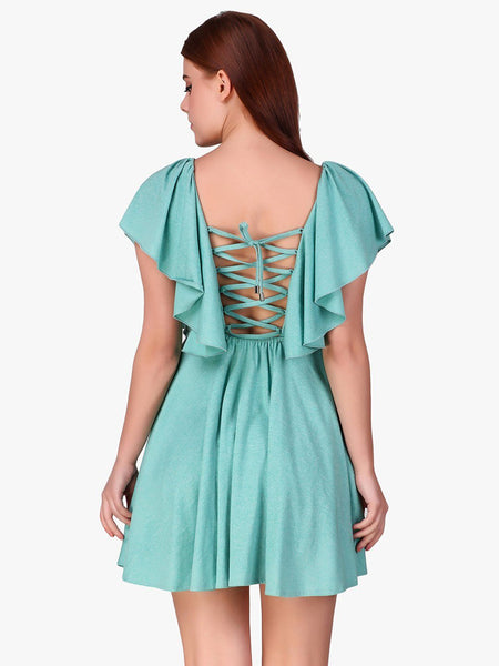 Texco Styled Back Ruffled Women Dress - Fashiano